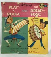 "Vintage ""Play A Polka & Drum Song"" Mickey Mouse Club 33 RPM USA Walt Disney"