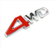 CAR SUV Parts 4WD Metal Red Trunk Lid Fender Emblem Badge Sticker Logo Decal Hot