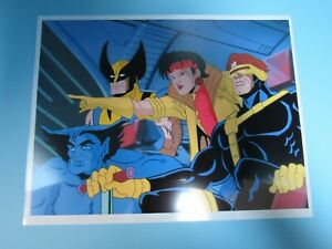 VITANGE 1990'S MARVEL X-MEN CHARACTER GROUP SCENE  ANIMATION CEL COPY