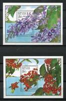 32148) Nevis 1993 MNH New Flowers S/S x2