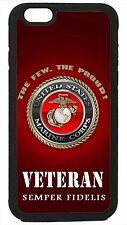 USMC Marines Veteran Marine Corps iPhone 4 4s 5 5s 5c 6 6 Plus Case Semper Fi