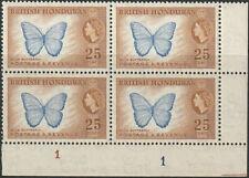 British Honduras 25c Block of 4 MHN UMM from 1953 -1957 Country Images