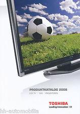 Catalogo prospetto Toshiba CATALOGO COMPLETO 2008 LCD TV DVD proiezione Catalog