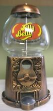 Jelly Belly Coin Dispenser Machine Glass and Metal Candy Gumball Bank Die Cast