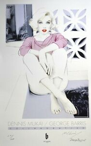 """MARILYN MONROE """"Reflect"""" poster RARE MINT! Mukai, George Barris SIGNED/NUMBERED!"""