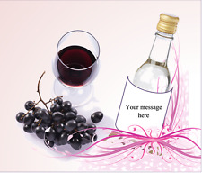 Personalized MINI Wine Bottle Labels Any Event Wedding Birthday Water Bottle too