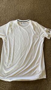 under armour Heat Gear Loose Mens T-shirt Size XL White