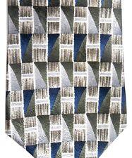 """Burma Bibas Men's Silk Tie 58"""" X 4"""" Multi-Color Geometric"""