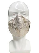 Snake faux leather Face Mask
