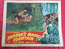 Tarzan's Magic Fountain 1949 RKO lobby card Lex Barker Brenda Jotce