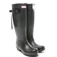 HUNTER Gummistiefel Gr. D 35 - 36 Schwarz Damen Schuhe Boots Shoes Neu