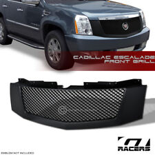 For 2007-2014 Cadillac Escalade/Ext Matte Blk Mesh Front Hood Bumper Grille Abs (Fits: Cadillac)