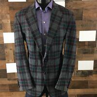 Men's Vintage Pendleton Plaid Sport Coat Blazer Jacket 44 Long Soft Tweed