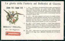 Militari 77º 78º Reggimento Fanteria Brigata Toscana cartolina XF5444