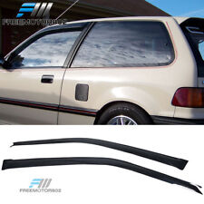 Fits 88-89 Honda Civic Hatchback Slim Style Acrylic Window Visors 2Pc Set