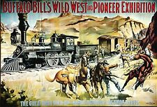 Buffalo Bills Wild West Pioneer Exhibition Vintage Ltd Ed Out of Print Poster