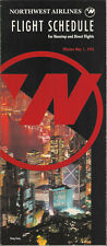 Northwest Airlines system timetable 5/1/92 [308NW] Buy 4+ save 25%