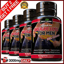 WEIGHT LOSS FOR MEN FAT BURNER CAPSULES DETOX SLIMMING DIET GARCINIA HCA 95%