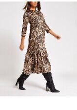 River Island Leopard Print Smock Dress Size 12 Bnwt