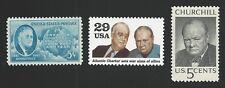 President Franklin D. Roosevelt & Sir Winston Churchill Atlantic Charter Stamps