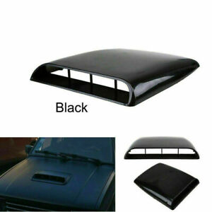 Auto Car Decorative Air Flow Intake Hood Scoop Vent Base Cover Black Universal