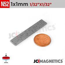 1mm X 1mm 132x132 N52 Strong Rare Earth Neodymium Tiny Magnet Discs 1x1mm