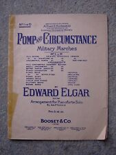 Pomp and Circumstance March No 1 in D for Piano Solo, Elgar, Vintage Sheet Music