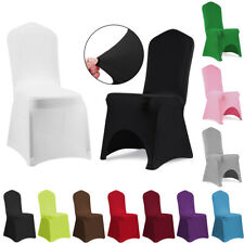 1/4/6/10 Spandex Stretch Chair Cover Flat/Arched Elastic Covers Wedding Party