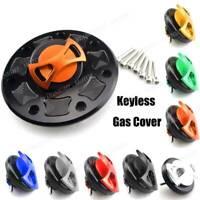 Motorcycle Tank Fuel Gas Cap Oil Keyless Aluminium For Kawasaki ZX-6R 1995-1999