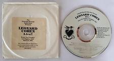 LEONARD COHEN LIVE FROM THE COMPLEX LA 04/18/93 USA CD PROMO COLUMBIA RADIO HOUR