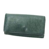 Louis Vuitton Key holder Key case Taiga Green Woman unisex Authentic Used P555