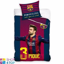 FC BARCELONA GERARD PIQUE SINGLE DUVET SET COVER PILLOW CASE FOOTBALL SOCCER NEW
