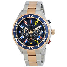 Nautica NST 12 Chronograph Navy Black  Dial Mens Watch NAD19560G