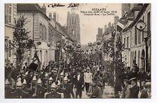 SEZANNE  Marne CPA 51 défilé pompiers grande rue fetes de 1912