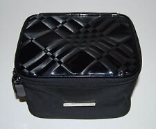 BURBERRY Fragrance NOVA Check Black Cosmetic Makeup Jewelry Travel Bag/Case