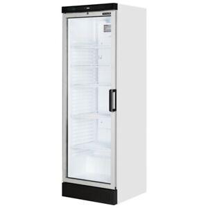 LEFT HANDED NEW TEFCOLD FS1380 GLASS DOOR DRINKS FRIDGE & FOOD DISPLAY COOLER