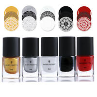 BORN PRETTY Special Nail Art Polish Plate Stamping Design Red White Gold