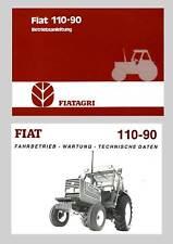 Fiat 110-90 Betriebsanleitung Traktor Original Original Lagerexemplar