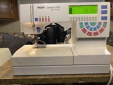 Pfaff 7570 Computerized Sewing Machine Embroidery Unit Germany W/10 Cards