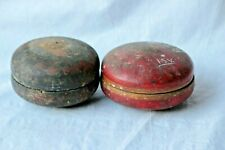 2 Pc Hand Painted Collectible Home Decorative Old Wooden Vintage Tikka Box BJ-85