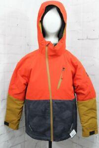 686 Hydra Insulated Snowboard Jacket, Boys Youth Medium, Solar (Red) Colorblock