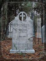 Evil Soul Studios Vintage Series Josephine Raven Cross Tombstone Halloween Prop