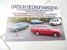 Nissan Datsun Utilitaires Urvan Cherry brochure catalogue commercial sales