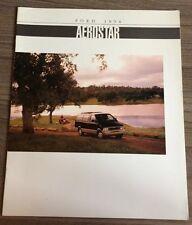 FORD AEROSTAR 1994 RANGE CAR BROCHURE AMERICAN XL PLUS XLT EDDIE BAUER 3.0L 4.0L