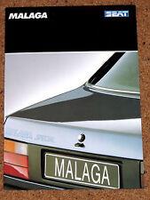 1989 SEAT Málaga 1.2 folleto de ventas especiales-Excelente Estado