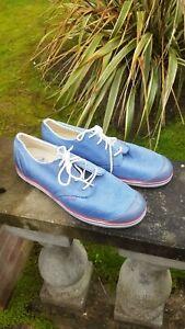 Palladium DECK Shoes UK 10.5 / 11 Eu 45 BLUE LEATHER TRAINERS  ICONIC VINTAGE