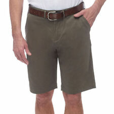 J.a.c.h.s JACHS Mens Sateen Flat Front Casual Cotton Shorts Olive 44