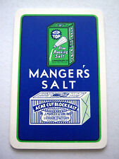 VINTAGE PLAYING CARD SINGLE SWAP ONE CARD MANGERS SALT ACME CUT BLOCK 1930s