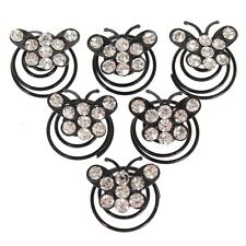 6 Schmetterling Curlies mit Strass in schwarz Haarschmuck Brautschmuck Hochzeit