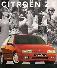 Citroen ZX 1992-93 UK Market Brochure 16v Furio Volcane Aura Avantage Reflex